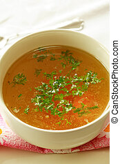 Vegetable soup - Delicious vegetable soup with low calorie