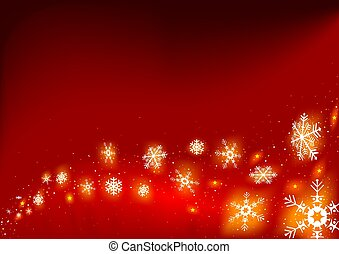 Fire snowflakes - detailed illustration as christmas...