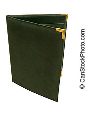 Folder - a dark green folder standing on end