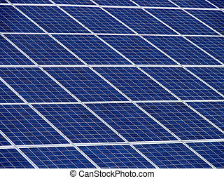 Solarpaneel1 - Its a part of a solar plant on a roof of a...