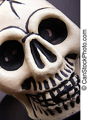 Ghoulish Skull - Halloween spooky skull in close up