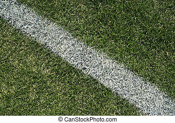 White boundary line of a playing field - White boundary line...