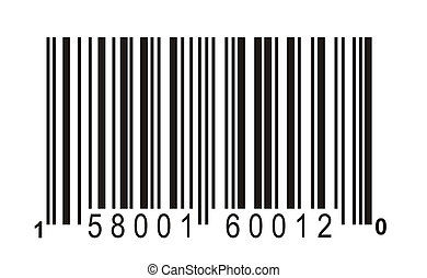 barcode close up for background