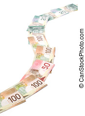 canadian dollars, concept of road for success