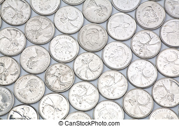 coins for background, close up shot