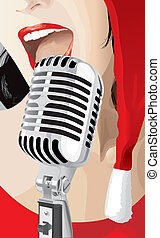 Christmas Singer (vector) - Christmas Singer (XXL jpeg made...