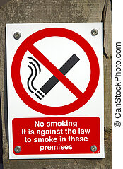 No Smoking sign - In England this is the sign used to ban...