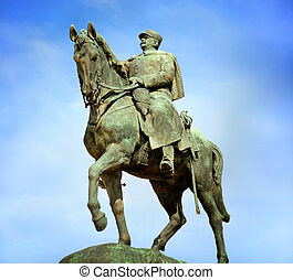 Equestrian Statue of Joffre, Champ de Mars, Paris, France -...