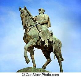 Equestrian Statue of Joffre, Champ de Mars, Paris, France -...