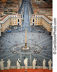 St Peters Square, Rome - View of St Peters Square, as seen...