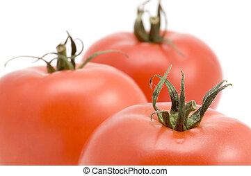 tomato macro - series object on white - food - tomato macro