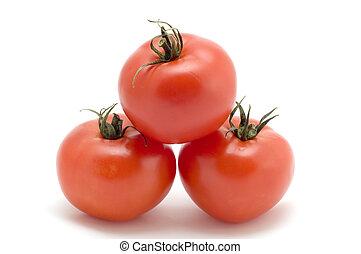 Tomato pyramid - series object on white - food - Tomato...