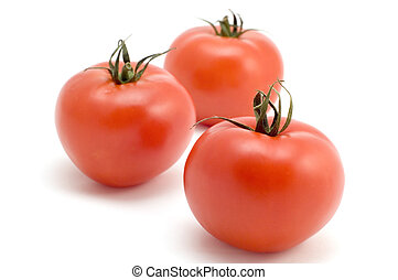 Tomato - series object on white - food - Three tomato