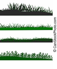 4 Grass graphic elements