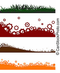 4 Landscape elements - Grass Gogs and Circless