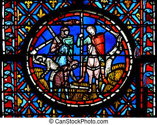 stained glass - This window is in the Saint-Chapelle in...