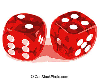 2 dice showing 2 and 4