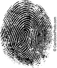 FingerPrint 8 - Black and White Vector Fingerprint - Very...