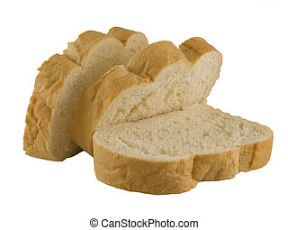 French Bread Sliced - a close up on French Bread sliced and...
