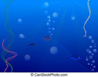 under water background