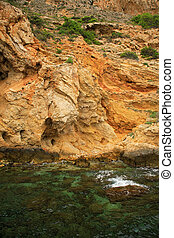 Rock formation - Famous rock formation by Calpe, Spain
