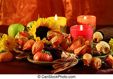 Happy Thanksgiving - Still life or table decoration for...