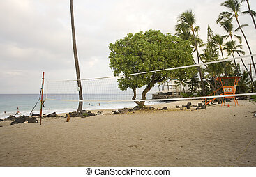 Volleyballl Court and Beach - Volleyball court and beach,...