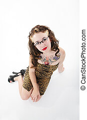Quirky Girl - Girl with a quirky, fifties meets alternative,...