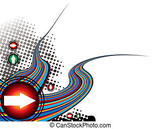 rainbow effect modern - Abstract illustration with a rainbow...
