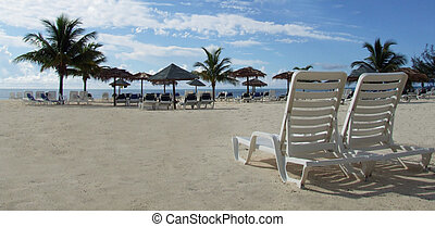 Lounge Beach Chair - Here is an inviting image with coconut...