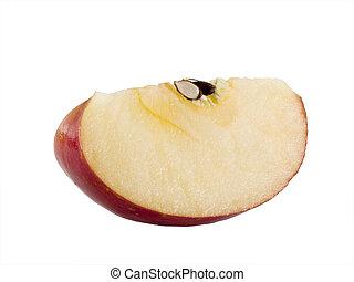 Fresh Fuji Apple wedge - a close-up on a fresh fuji apple...
