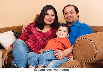 East Indian Couple with their son - An East-Indian couple...