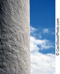 White Wall and Blue Sky - White Wall Against the Blue Sky