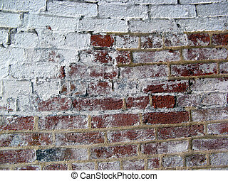 Brick White Wall 2 - Brick Wall With Some White Paint and...