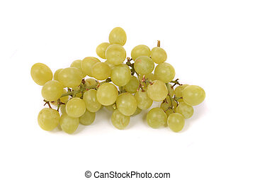 grapes - green grapes on the white background