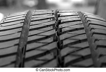 tread - close-up on a spare tire
