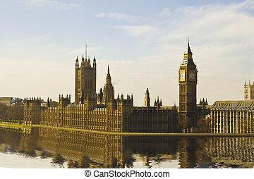 casa, Parlamento,  Ben, grande, y