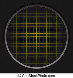 Yellow Radar Grid - A circular radar grid background over...