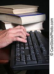 mãos, teclado