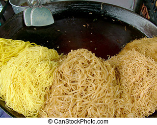 Lots of Noodles - Five different types of noodles ready to...