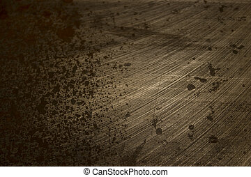 Etched Rusted Metal - Corrosion on a table saw