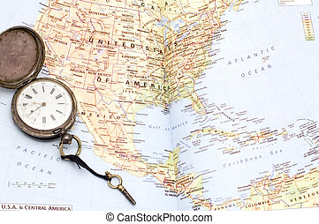 Central America - series object on white - map - Central...