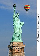 les, statue, liberté