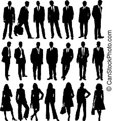 business people collection - collection of business people...