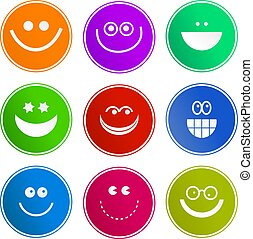 smilie sign icons - collection of happy smiling face sign...