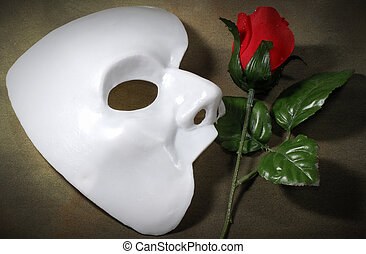 Opera - Photo of White Mask and a Fabric Rose - Opera...
