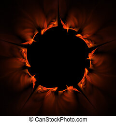 Ring of Fire - abstract rendering of ring of fire