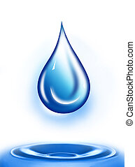 Water drop illustration Water drop background Water-drop