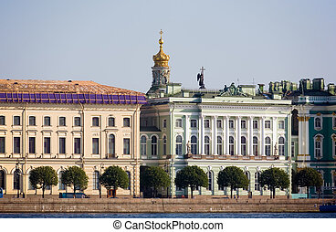 Petersburg\\\'s embankment - the embankment of...