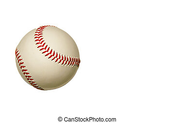 Baseball Isolated - An Isolated baseball on a white...